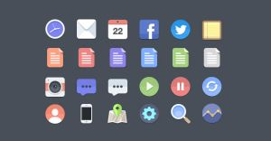 24 Flat Icons (PSD) by PremiumPixels
