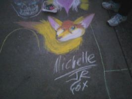 Michelle on the Sidewalk 1 by Fox-under-the-stars