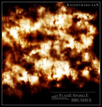 Flame Sparkle Brushes by Knightmare-san