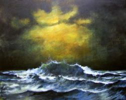 Gloomy seascape (updated) by Boias