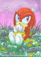 ACEO Baby Knux by RainWaterfallsZone