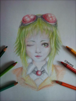 Gumi Megpoid portrait by SniipSniip