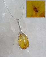 SOLD-Amber Pendant by moon519