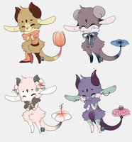 Kebloom ~ Set 5 (closed) by LunarAdopts