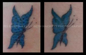 Butterfly Tat Fresh vs Healed by Hitomii