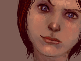 Girl's Face by angryzenmaster