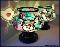 Jaded Heart Jar by Bonniemarie