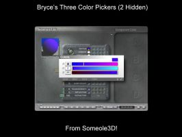 Bryce and Hidden Color Pickers by someole3d