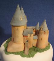 Castell Coch cake topper by Dragonsanddaffodils