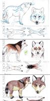 Wolf Adoptables (SOLD) by NatsumeWolf