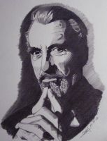Christopher Lee by professorwagstaff
