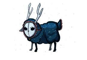 Night Sheep DTA (CLOSED) by PotarosoupAdopts