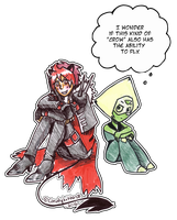 Crow and Peridot by CandySkitty