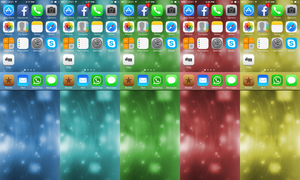 Squared Wallpapers for iOS 7 by rcreatives