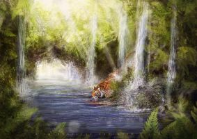 Speedpainting  - watering place by AlsaresLynx