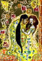 Lovers...Klimt Study by MadElfTk