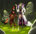 Druidscar And Voodoomaid by ttnt