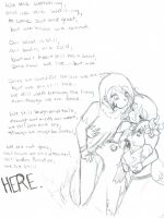 Poetry art: we are here. by LaKitten