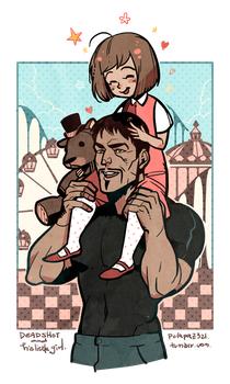 deadshot and his daughter by freestarisis