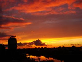 Industrial sunset 12 by Estruda