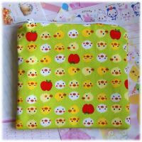 Chicks and Apples Zip Pouch by Keito-San