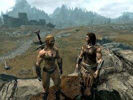 Skyrim Amazons by Superstrongbabes