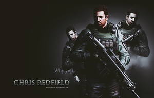 Chris Redfield RE6 Wallpaper by BriellaLove