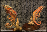 Taxidermy Panther Chameleon by BluesCuriosities