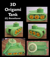 3D origami tank by bassetluver