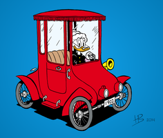 Grandma Duck's old car by Hidde99