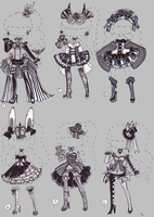 CLOSED-Monochrome Circus by Guppie-Adopts