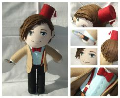 Matt Smith Doctor Who Plush by FlyingRabbitMonkey