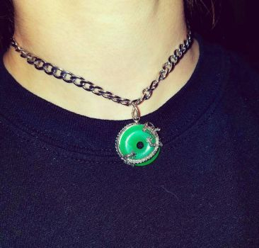 Jade Dragon Choker by RageandRoarCustoms