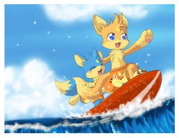 COMMISSION: RIDE THE WAVE by PEQUEDARK-VELVET