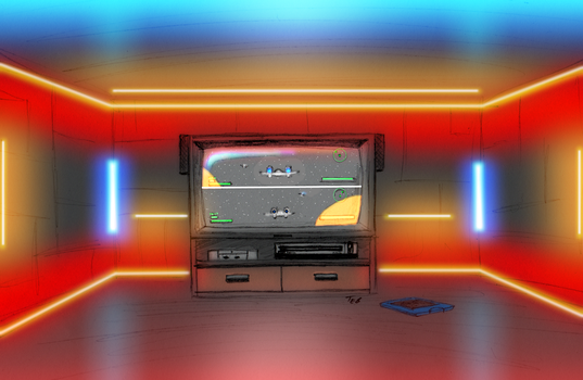 The entertainment room - colored by Stingray-24