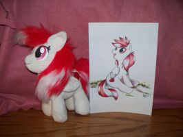 Custom Valentine's day pony plush at auction by Soyo-Kaze-Studio