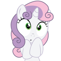 Shocked Sweetie Belle by ErisGrim