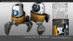 Service Droid - Advanced UV Excercise by joshmalosh