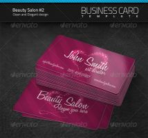 Beauty Salon Business Card v2 by artnook