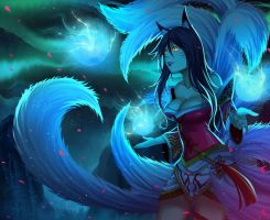 ahri - league of legends by gin-1994