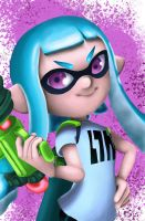 Blue Inkling Girl by ReiReiArt