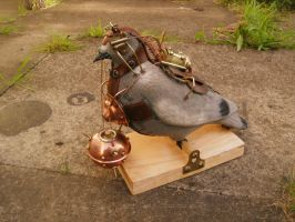 Steampunk: Exploding steam-pigeon by vulpinedesigns