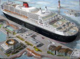 QM2 -color pencil - unfinished by Hudizzle