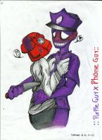Purple Guy x Phone Guy by visionthefox