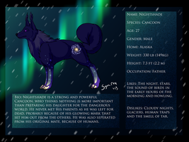 Nightshade refrence sheet by Symrea