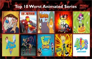 Jefimus' top 10 the most hated cartoon of the 2000 by JefimusPrime