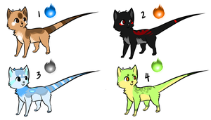 Diaka adoptables batch 1 CLOSED by Capukat