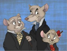 The Great Mouse Detective At Hogwarts by Professor-R