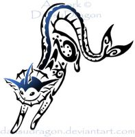 Tribal Vaporeon Design by DansuDragon