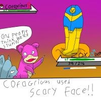 the scary face by HoneyShuckle